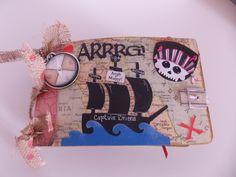 pirate mini album to see entire mini go to www.scraphappenswithrhonda.blogspot.com