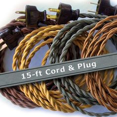Pendant Light Cord 15ft Cloth Covered Wire Vintage Style | Etsy Edison Lighting, Rustic Lighting, Vintage Lighting, Pendant Lighting, Lighting Ideas, Bar Lighting, Primitive Lighting, Edison Bulbs, Porch Lighting