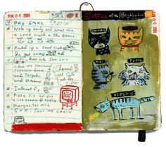 kitties of the neighborhood | journal sketchbook