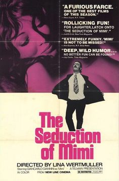 Seduction of Mimi posters for sale online. Buy Seduction of Mimi movie posters from Movie Poster Shop. We're your movie poster source for new releases and vintage movie posters. 1970s Movies, Old Movies, Vintage Movies, Great Movies, Cinema Posters, Movie Posters, New Line Cinema, The Best Films, French Films