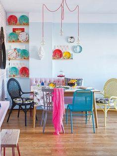 Un piso de 65 m2: Un comedor alegre y vital