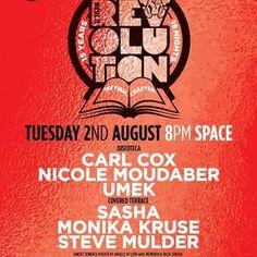 Carl Cox @ Music is Revolution Week 8, Space Ibiza - 02 August 2016