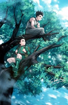 Commission of Gon and Ging from Hunter X Hunter! Hunter X Hunter - Gon and Ging Killua, Hisoka, Me Anime, Chica Anime Manga, Anime Art, Manga Girl, Anime Girls, Gon Hunter, Hunter Anime