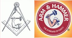 Arm & Hammer Logo \ Square & Compass