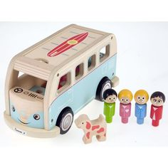 Buy a Camper Van (Blue) from Mulberry Bush, the UK online toy shop for Wooden & Traditional Toys, & Games for Children