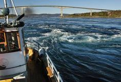 Saltstraumen maelstrom in Norway. Scary as it seems, I kinda want to see this.