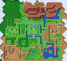 Hyrule Map - Zelda - a link to the past