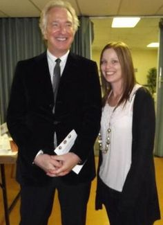 September 10, 2011 -- Alan Rickman at the Alexandra Wylie Memorial Ice Skating Gala in London. The lady next to him is Laura Kate Jones, a fan.