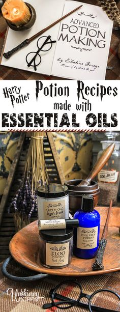 Harry Potter Potion Recipes with Essential Oils - Unskinny Boppy Harry Potter Wall Art, Harry Potter Potions, Harry Potter Decor, Harry Potter Outfits, Harry Potter Classes, Harry Potter Marathon, Essential Oil Blends, Essential Oils, Potions Recipes