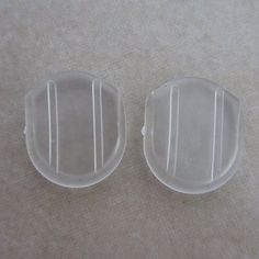 These #comfort #pads are sold in a package of 24 (12 pairs). Earrings not included. The material is soft plastic. The size is approximately 14mm tall and 12mm wid...