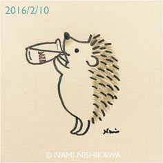 758 瓶牛乳 a bottle of milk #illustration #hedgehog #イラスト #ハリネズミ #illustagram ハリネズミは乳糖に耐性がないから、とコメントいただいておりますが、作品は全てファンタジーです。気になる方はゴートミルクとういことにしてくださいm(_ ...