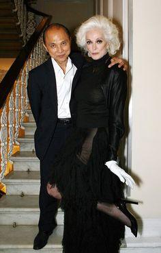Carmen dell'Orefice, 80, with Jimmy Choo