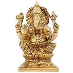 Ganesha Sculpture Hindu Décor Religious Gifts Brass Hinduism Symbol 4.5 inch ShalinIndia http://www.amazon.in/dp/B010M3ISOO/ref=cm_sw_r_pi_dp_vNS3vb1MB6G51