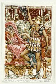 Perseus Delivering Medusa's Head (1892) by Walter Crane