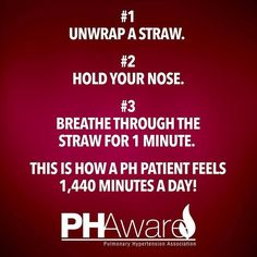 Pulmonary Hypertension Challenge #PHAware