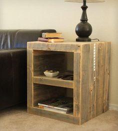 Reclaimed Wood Night Stand   Home Furniture   J W Atlas Wood Company   Scoutmob…