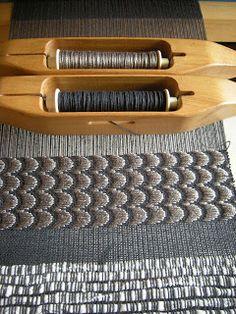Handwoven with brocade by WeavingBackToTheFuture