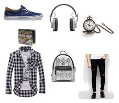 """Simple & blue"" by marisabot on Polyvore featuring Cheap Monday, Bling Jewelry, Vans, MCM, Master & Dynamic, men's fashion と menswear"