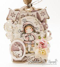 OOAK Magnolia Tilda CHRISTMAS tag card