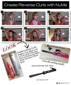 Beautysets - Reverse Curls with the NuMe Wand