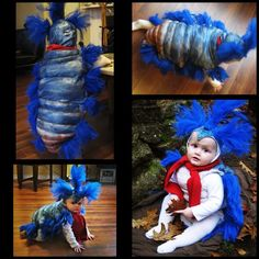 May have to do a family labyrinth theme next Halloween! Fos would be and adorable 'ello worm! Ello worm from the movie The Labyrinth - costume Labyrinth Worm, Labyrinth Movie, Bowie Labyrinth, Sarah Labyrinth, Holidays Halloween, Halloween Party, Halloween Decorations, Halloween Ideas, Halloween Goodies