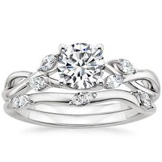 Platinum Willow Matched Set (1\/4 ct. tw.) from Brilliant Earth