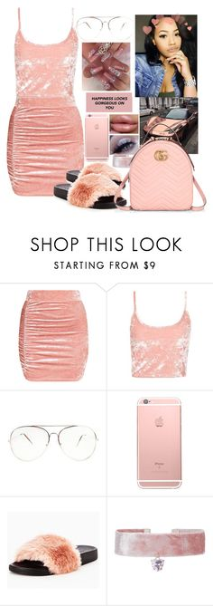 """"""""""" by officially-mya ❤ liked on Polyvore featuring Topshop, Monsoon and Gucci"""