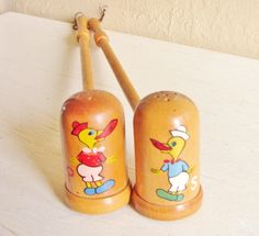 Pair of Vintage Salt and Pepper Shakers for grilling