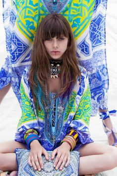 Fashion inspiration | I love the patterns and blue and yellow mix in a bohemian styling