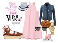 """So pink!"" by renata-jim on Polyvore featuring moda, LE3NO, MANGO, Ray-Ban, Gucci y Stuart Weitzman"
