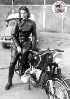 Anke Eve Golman was a journalist for Cycle World, Das Motorrad in Germany, & Moto Revue in France. She was a friend of author André Pieyre de Mandiargues and the inspiration for the main character, 'Rebecca', in his book The Motorcycle (1963). The book was adapted for the 1968 film The Girl on a Motorcycle starring Marianne Faithful. She was the first woman to ride a motorcycle with a one-piece leather racing suit. In 1958, she helped found the Women's Int'l Motorcycle Assoc. in Europe.