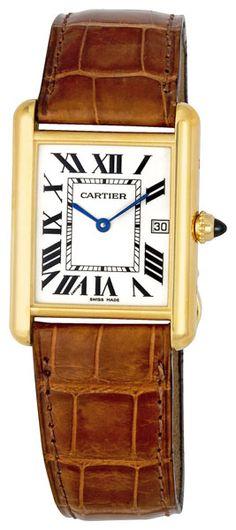 Cartier Tank Louis 18kt Yellow Gold Mens Watch W1529756  $7626.00   #CartierTank #CartierWatches
