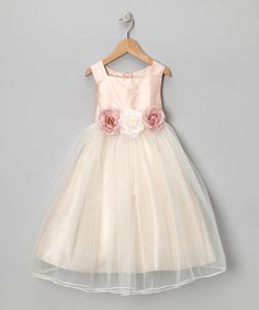 Take a look at this Dusty Rose Silk Dress - Infant, Toddler & Girls by Kid's…