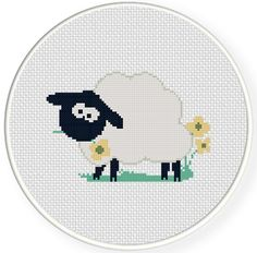 FREE for March 18th 2014 Only - Spring Sheep Cross Stitch Pattern