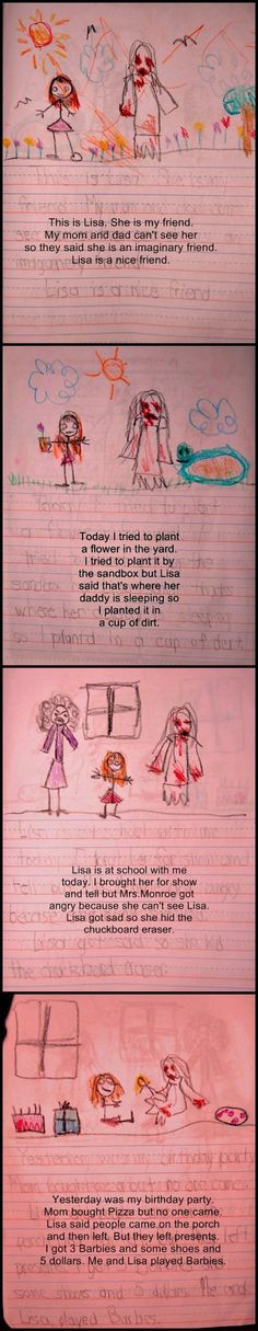 Creepy Diary… I think this kid is seeing a ghost...