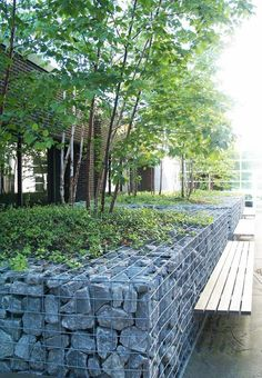 small gabion wall with seating http://www.gabion1.com