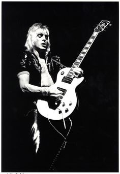 Mick Ronson, legendary guitarist whose brilliant writing and playing for Bowie and Lou Reed never made him any royalties off of that music...but he never complained. he was a humble hard working guy who before his music fame was a grounds keeper/gardener and who, unlike many of his co-musician friends, took off his makeup at the end of each gig and went home, never really caring to live the glamorous rock star life.  Rest in Power Mick Ronson *Starman*