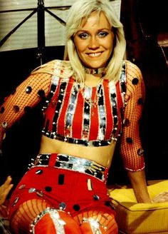 Agnetha in her 70's outfit
