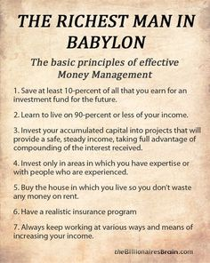 The Riches Man in Babylon courtesy of Money Point.