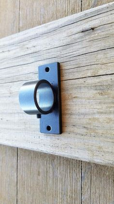 Ceiling or Wall Brackets Round Rods, Custom bracket No Projection, Modern Drapery Bracket, Ceiling Mount Iron Bracket with set screw