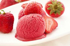 instant strawberry ice cream (Paleo--made with coconut milk and frozen fruit); I'm going to try this with frozen cherries!