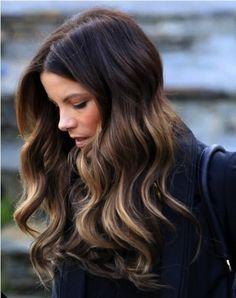 ombre for dark hair | kate beckinsale hair, dark ombre hair, preston bailey bride ideas