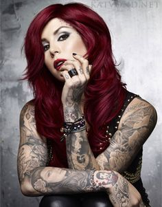Kat Von D, one of the best tattoo artists EVAR. plus she's really hawt ;)