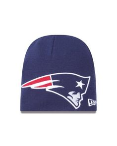 NFL New England Patriots Big One Two Cuffless Knit Cap by New Era. $10.78. This New Era NFL Fall 2012 Collection Big One Two Knit features an embroidered New England Patriots team logo at front, a stitched New Era flag at wearer's left side and the NFL Shield embroidered on the back.. Save 40%!