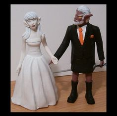 Custom World of Warcraft Wedding Cake Toppers Figure by Jsebold87, $120.00 Wedding Cake Toppers, Wedding Cakes, World Of Warcraft Merchandise, Bridal Gifts, Wedding Things, Cake Ideas, Random Stuff, Wedding Ideas, Bride