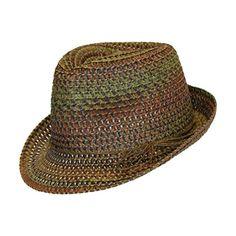 Boho Festival Straw Fedora Sun Hat in Olive c7decac050e8