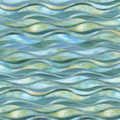 Oasis, a handmade mosaic shown in Peacock Topaz and Aquamarine jewel glass, is part of the Silk Road Collection by New Ravenna. Mosaic Art, Mosaic Glass, Glass Art, Glass Tiles, Pebble Mosaic, Stained Glass, Ravenna Mosaics, New Ravenna, Mosaic Backsplash