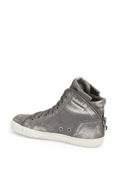 06d9fb0fc9fe6 Ash  Shake  Metallic Leather Sneaker