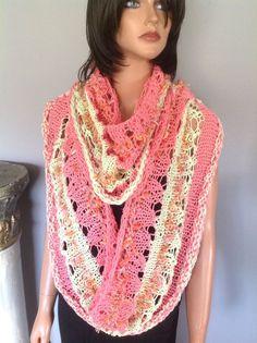 Shawl Wrap Poncho Caplet Circular  Cotton Hand Knit Designer Fashion Hip Chic #GANDKNITS2LOVEMy4SeasonHandKnits #CurcularShawlMiniPonchoWrapCapletStole