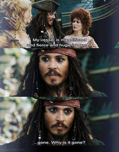 Captain Jack Sparrow ~ his vessel is huge-ish ;)